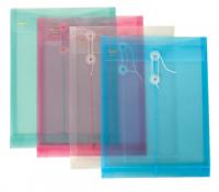A4塑料档案袋 资料袋 缠绳立体/文件袋 可定做印刷logo/广告/印字