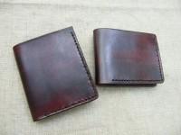 原创设计植鞣牛皮钱包卡套 手工 定制印logo个性礼品男士真皮皮夹