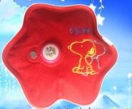 梅花形绒布秀花热水袋 暖手宝 电暖袋 电暖宝 电热水袋
