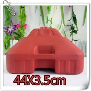 销售订制广告太阳伞红色塑料注水底座 遮阳伞耐摔结实水座 印字