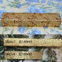 书画专用锦盒丝绸卷轴字画装饰包装咖啡龙高档锦缎盒可按尺寸定做