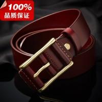 男士自动扣皮带男式真皮腰带广州品牌厂家牛皮裤带批发定做k104