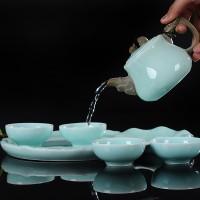 青瓷茶具套装logo定制礼盒装送礼瓷器
