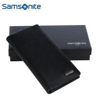 Samsonite/新秀丽675钱夹经典商务牛皮钱包 黑色多卡位男士钱夹