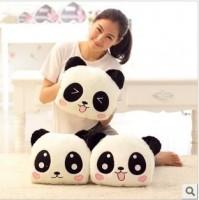 情侣趴趴熊猫 抱枕 婚庆礼品 毛绒玩具 可印logo