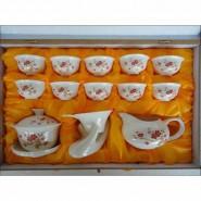 14头功夫茶具(普通花面)共有11种花面 会议商务礼品陶瓷茶具