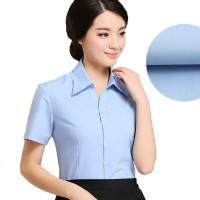 女士短袖工作服衬衫修身大码韩版职业学生衬衣工装上班定制LOGO