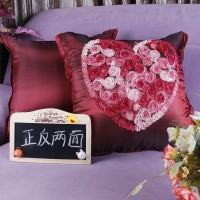 订做广告婚庆心形抱枕被子两用沙发汽车靠垫被定制logo绣印字批发