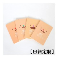 记事本厂家直订 可爱表情笔记本日记本记事本印刷 封面内页设计定制