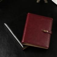 厂家直销创意记事本商务活页记事本定制 旋转扣pu笔记本定做logo
