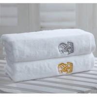 星级酒店浴巾纯棉加大厚情侣白色浴巾抹胸成人16S大浴巾套装