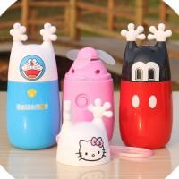 哆啦A梦KITTY小黄人usb风扇充电迷你风扇儿童手持电动风扇印LOGO
