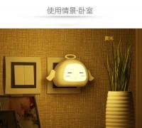 银之优品/led小夜灯,新奇卡通天使彩色夜灯 光控型小夜灯