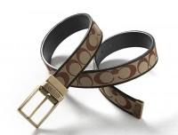 腰带 男士LOGO压花帆布拼皮 针扣腰带皮带 超值价