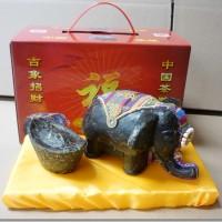 茶雕 批发茶摆件 普洱工艺茶摆件系列 小象摆件