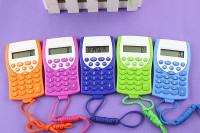 可爱彩色计算器学生考试小计算器 口袋便携 5色入