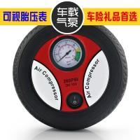 车载充气泵汽车点烟器12V小车轮胎打气筒车用应急便携式微型电器