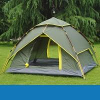 定做可印logo全自动帐篷户外3-4人双层速开帐篷野外露营双人帐篷