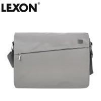 正品法国乐上LEXON男女14寸浅色单肩斜跨电脑休闲包-LN361