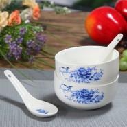 供应青花瓷 韩式碗 餐具套装 礼品袋套装 碗勺餐具