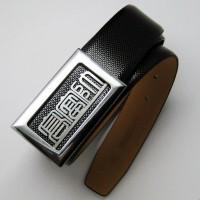 订做全牛皮皮带定制皮带扣厂家直销企业LOGO单个设计作生日礼物6