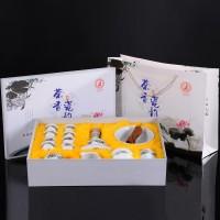 青花白瓷功夫茶具套装定制 可印LOGO礼品