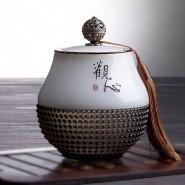 商务礼品定制实用琉璃茶叶罐中式摆件高档工艺纪念品公司开业送礼