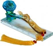 商务礼品 乔迁新居开业婚庆祝贺高档琉璃摆件 生日礼品 可订制