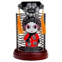 中国北京特色礼品商务礼品定制出国送老外礼物圣诞节实用京剧笔筒
