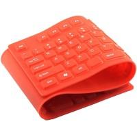 硅胶键盘USB接口防水软键盘可折叠键盘静音无声键盘橙LOGO定制