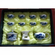 陶瓷茶具12头青花瓷 会议商务活动礼品