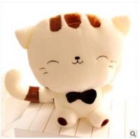 毛绒玩具 大尾巴大脸猫 可印LOGO 网店代理 玩具公仔