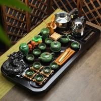便携式一壶两杯整套陶瓷亚光整套烧水壶套装自动定制LOGO冰裂茶具