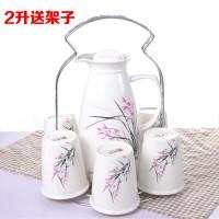 7头整体茶具礼品陶瓷凉冷水壶水杯套装骨瓷耐热大容量可定制logo