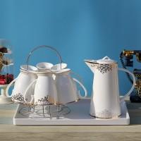 骨瓷水具套装欧式高档陶瓷创意凉水壶家用冷水壶杯子定制logo