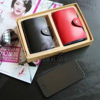 真皮卡包单面26张卡位  二层牛皮卡包 定制LOGO  创意礼品 时尚
