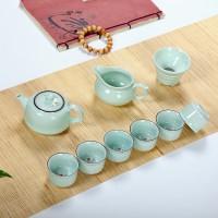 彩色鲤鱼杯十头精品茶具可做logo
