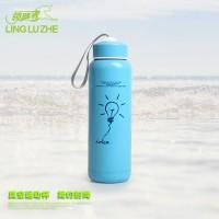 领路者运动水壶 不锈钢双层保温直饮 户外水杯500毫升