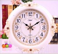 康巴丝静音欧式钟表挂钟客厅卧室时尚创意大挂表现代时钟石英钟表