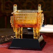 高档琉璃鼎摆件商务礼品实用办公室招财摆件公司开业礼品可定制