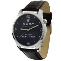 公司logo世华地产周年庆礼品礼物传时图案个性定制手表包邮