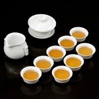 高白玉瓷茶壶套组 正宗礼品LOGO定制