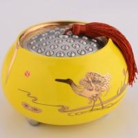 定制            人气 高档纯锡陶瓷茶叶罐 一鹭莲升 品牌正品锡器