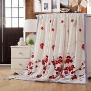 欧尚风情毯 100%优质超柔超细材料 厂家直销 可印logo 怒放梅香