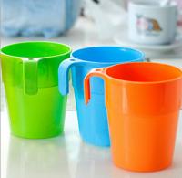 挂糖果色塑料水杯 漱口杯 彩色茶水饮料杯 洗漱杯 礼品可加印LOGO