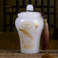 高档商务礼品琉璃茶叶罐送客户送领导 家居摆件实用 生日礼品馈赠