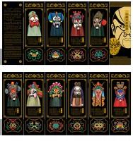 仿古漆器小屏风装饰摆件中国特色礼品送老外礼物六扇京剧脸谱