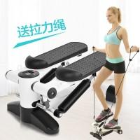 新款运动器材踏步机多功能家用静音减肥机带拉绳液压免安装脚踏机