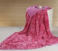 玫瑰绒保暖毯 纯棉材料和玫瑰绒材料 厂家直销 可印logo 玫红