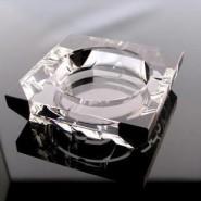 水晶烟缸精品水晶烟灰缸拼角黑 时尚创意烟灰缸 商务礼品烟灰缸